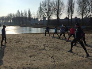 Koud water training Mischa Top Groningen
