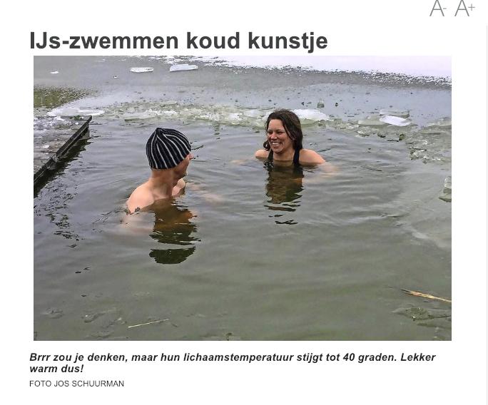 IJs-zwemmen Koud Water Training Telegraaf