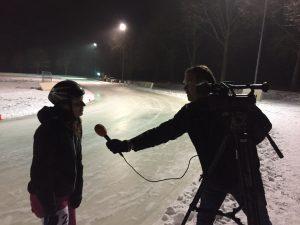 Mischa top natuurijs schaatsen